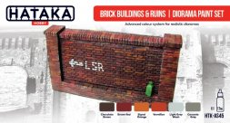 Hataka Hobby Brick buildings & ruins - diorama paint set