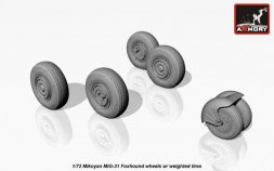 MiG-31 Foxhound wheels w/ weighted tires 1:72