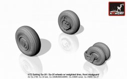 Su-30 late / Su-35 wheels w/ weighted tires 1:72
