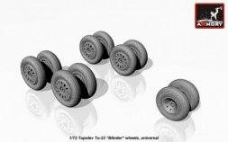 Tupolev Tu-22 Blinder wheels set 1:72