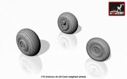 Armory Antonov An-28 Cash wheels w/ weighted tires 1:72