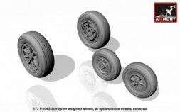 Armory F-104G Starfighter weighted wheels 1:72