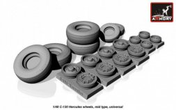 C-130 Hercules wheels, mid type 1:48
