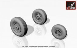 F-105 Thunderchief weighted wheels 1:48