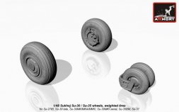 Armory Su-30 late / Su-35 wheels, weighted tires 1:48