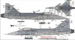 JAS-39C/D Exotic Gripens (SAAF & Thai AF) 1:72