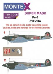 Pe-2 super mask + decals for Zvezda P.1 1:48