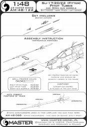 Su-17, Su-20, Su-22 - Pitot Tubes & gun barrels 1:48