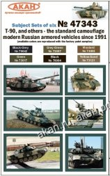 AKAN Russian armored vehicles standard camouflage since 1991