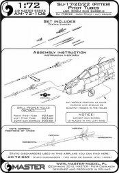 Su-17, Su-22 - Pitot Tubes & gun barrels 1:72