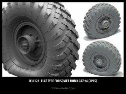 Gaz-66 Wheels flat 1:35
