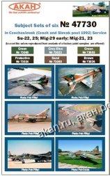 AKAN Czechoslovak Air Force - (MiG, SU) post 1992 service