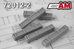 Advanced modeling S-8 rocket transport box 1:72