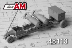 Advance Modeling Soviet/ Russian bomb cart 50-100kg 1:48