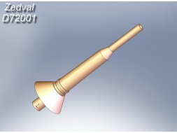 Antenna input for radio stations R-123 1:72