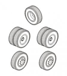 SS-100 Gigant wheels set 1:72