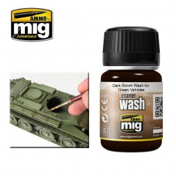 AMMO of MiG - Dark Brown Wash for Green Vehicles 35ml