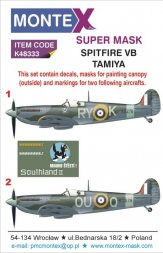 Montex Spitfire Mk.VB Super Mask for Tamiya P.II 1:48