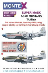 Montex P-51D Mustang Super Mask for Tamiya P.3 1:48