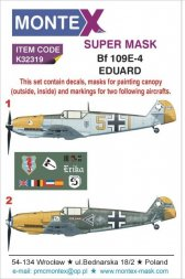 Bf 109E-4 Super Mask for Eduard 1:32