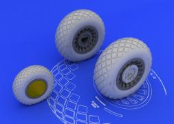 Eduard Brassin B-25H/ J wheels for HONG KONG MODELS 1:32