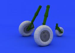 Bf 109G-10 wheels for Revell 1:32