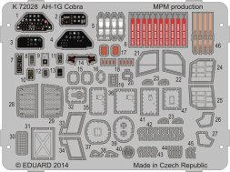 Special Hobby AH-1G Cobra colour photo-etched parts 1:72