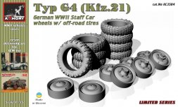 Mercedes G4 (Kfz.21) wheels w/ off-road tires 1:35