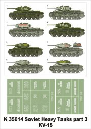 Montex KV-1S Soviet heavy tanks P.III 1:35