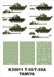Montex T-55/ T-55A super mask für Tamiya 1:35
