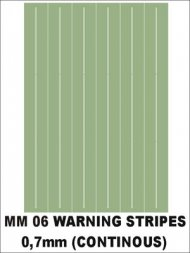 Montex Warning stripes (continous) 0,7 mm