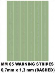 Montex Warning stripes (dashed) 0,7x1,3mm