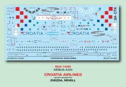 Airbus A320 - Croatia Airlines 1:144