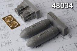 Advance Modeling ODAB-500PM 500 kg Air-fuel explosive bomb 1:48
