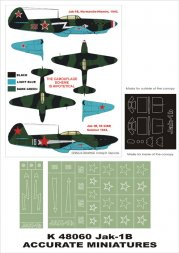 Montex Yak-1b super mask for Acc. M. 1:48