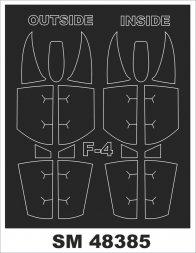 Montex F-4 Phantom II mini mask für Academy 1:48