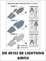 BAC Lightning mask for Airfix 1:48