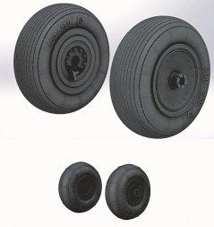Ka-50, Ka-52 wheels (Weighted Tyres) - No mask 1:72