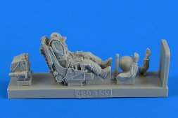 Soviet Su-27 Flanker pilot in ejection seat 1:48