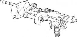 CMK MG 34 WW II mounted machine gun 1:35