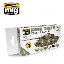 AMMO of MIG - German King Tiger Exterior Colors Set Vol.2