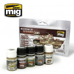 AMMO of MIG - German Camo Weathering Set