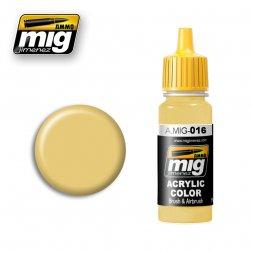 AMMO of MIG - 016 RAL8020 Gelb-braun - 17ml