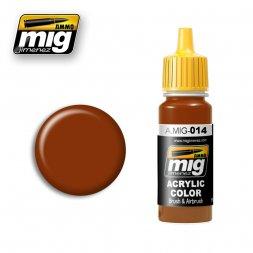 AMMO of MIG - 014 RSL8012 Rotbarun - 17ml