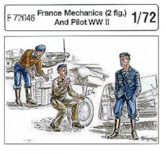 France Pilot & Mechanics WWII 1:72