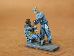CMK German Fighter Pilots Sitting + Mechanic WW I 1:48