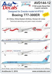 Boeing 777-300ER. East Asia carriers 1:144