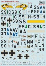 Print Scale Messerschmitt Bf 110 Aces Part.1 1:72