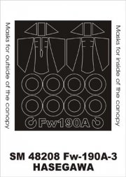 Fw 190A-3/A-4 mask for Hasegawa 1:48