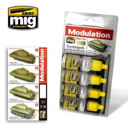 AMMO of MiG - Dunkelgelb Modulation Set